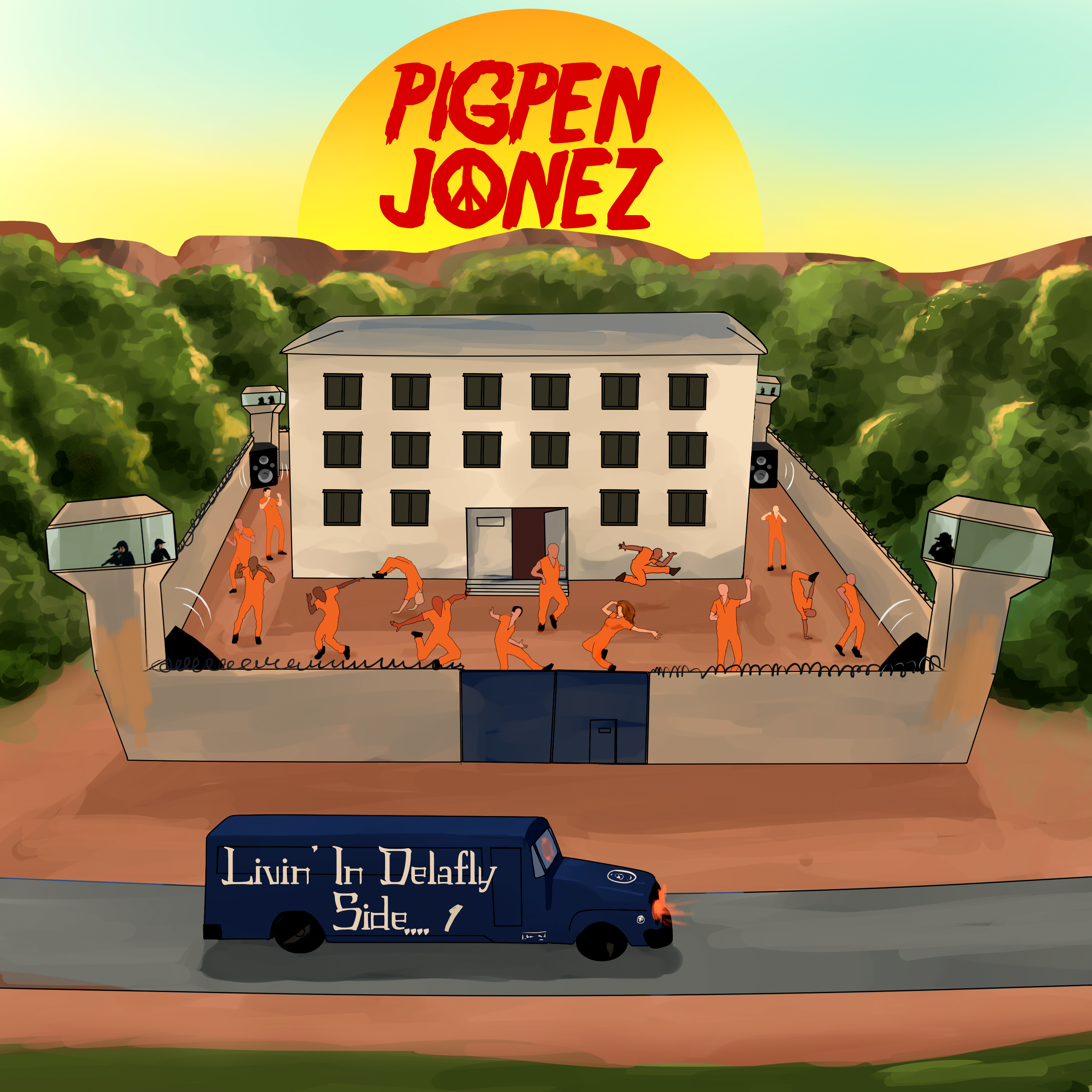 Retro Alternative Rock Band PIGPEN JONEZ Releases Socially Conscience Rock Music EP Livin' In Delafly Side….1