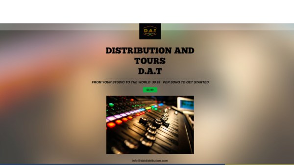 D.A.T. (DISTRIBUTION AND TOURS) Is The New Paradigm In Music Distribution Offering Tours To Emerging Independent Artists